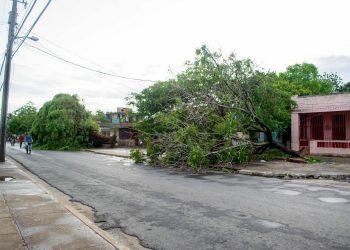 San Cristobal sufrió daños por el paso de la tormenta tropical Laura. Foto: Periódico Artemisa/Facebook.