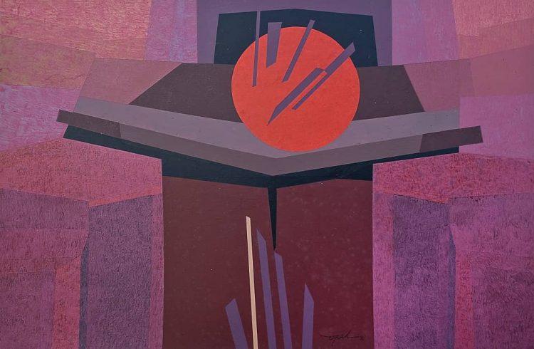 S/t, 2010. Acrílico sobre cartulina, 50.4 x 76.3 cm