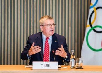 El presidente del Comité Olimpico Internacional (COI), el alemán Thomas Bach. Foto: Tokyo 2020.org.