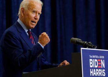 Joe Biden habla en Wilmington, Delaware, el viernes 4 de septiembre de 2020. Foto: AP.