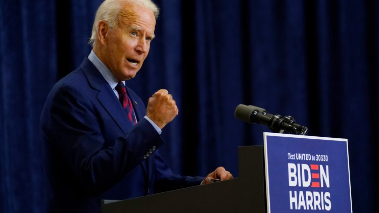 Joe Biden habla en Wilmington, Delaware, el viernes 4 de septiembre de 2020. Foto: AP / Archivo.