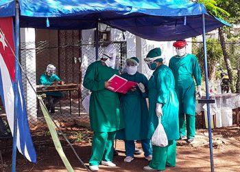 Punto de control sanitario en Ciego de Ávila. Foto: invasor.cu