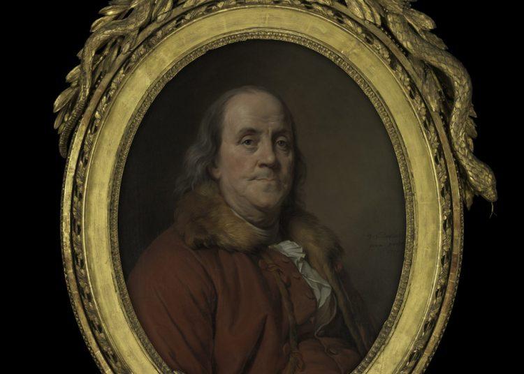 El cuadro de Benjamin Franklin, cuya reproducción Trump se llevó de la embajada en Paris.