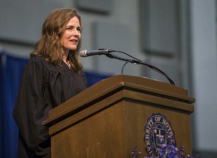 La jueza Amy Coney Barrett. Foto: AP.