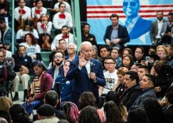 Joe Biden habla en un mitin organizado por Mi Familia Vota, un grupo nacional de votantes latinos, en Las Vegas el 11 de enero de 2020.  Foto:Joe Buglewicz / The New York Times.