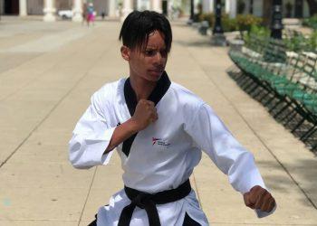 El joven taekwondoca cubano Darío Navarro Riquelme. Foto: Perfil de Facebook del deportista.