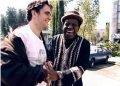 """Fellove y el actor Matt Dillon, director del documental """"El gran Fellove"""". Foto: Instagran de Matt Dillon"""