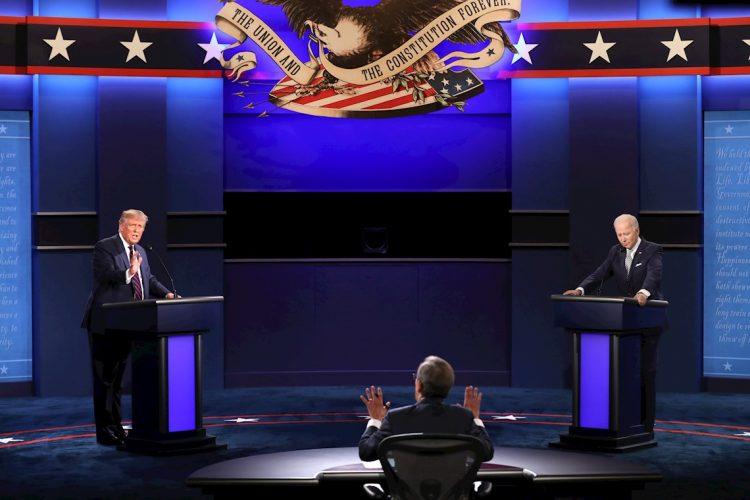 El primer debate Biden Vs. Trump, en 29 de septiembre en Clevland, Ohio. | JIM LO SCALZO/EFE