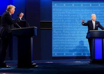 Presidente Donald Trump y el ex vicepresidente Joe Biden se enfrentan en el primer debate el 29 de septiembre, en Cleveland, Ohio | Archivo / EFE