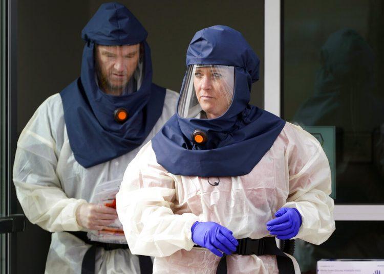 Trabajadores de la salud en Salt Lake City, Utah. Foto: Rick Bowmer/AP.