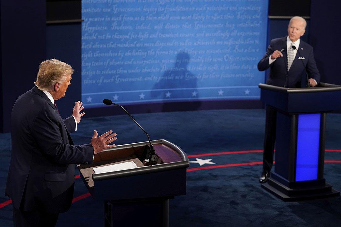 The first debate. Photo: Politico