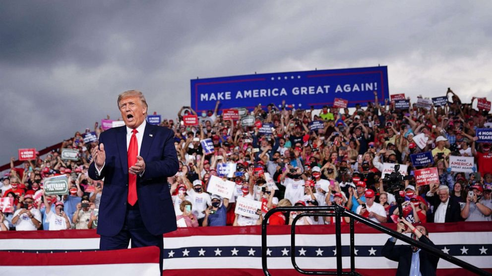 Trump at a rally in Michigan. Photo: Fortune.