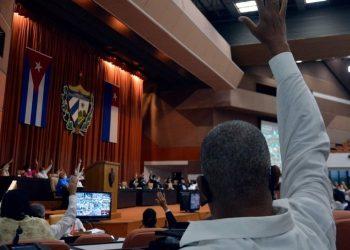 La Asamblea Nacional de Cuba aprobó cuatro nuevas leyes en su sesión ordinaria del 28 de octubre de 2020. Foto: @anamarianpp / Twitter.