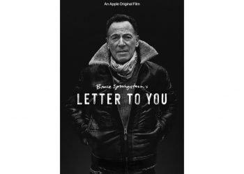 """El arte del documental """"Bruce Springsteen's Letter To You"""" que se estrena el 23 de octubre en una imagen proporcionada por Apple. El documental se estrena el mismo día que será lanzado el álbum """"Letter To You"""" de Bruce Springsteen. Foto: Apple, via AP."""