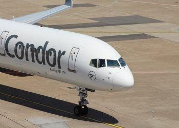 Avión de la aerolínea alemana Condor. Foto: aerolatinnews.com / Archivo.