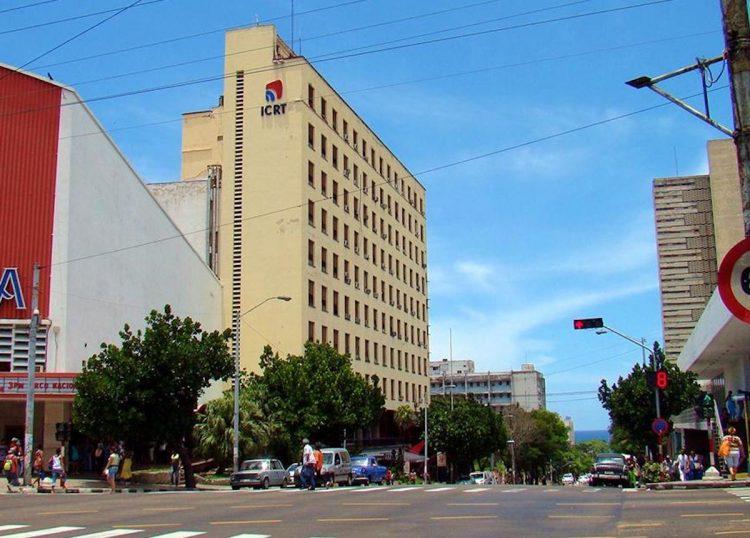 Edificio del Instituto Cubano de Radio y Televisión (ICRT), en la céntrica calle 23 de La Habana. Foto: Archivo.