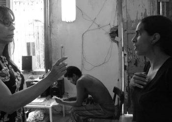 Algunos de los participantes en la protesta en la casa donde se encuentran reunidos en el barrio habanero de San Isidro. Foto: Perfil de Facebook