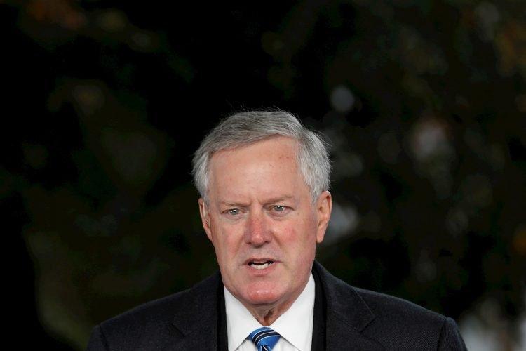 Fotografía tomada el pasado 25 de octubre en la que se registró al jefe de gabinete de la Casa Blanca, Mark Meadows, en Washington DC (EE.UU.) Foto: Yuri Gripas / EFE / Archivo.