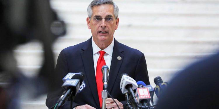 El secretario de Estado de Georgia, el republicano Brad Raffensperger. Foto: NBC News.