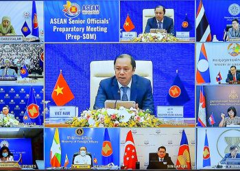Cumbre virtual de los cancilleres de la Asociación de Naciones del Sudeste Asiático (Asean). Foto: ASEAN2020VN / Twitter.
