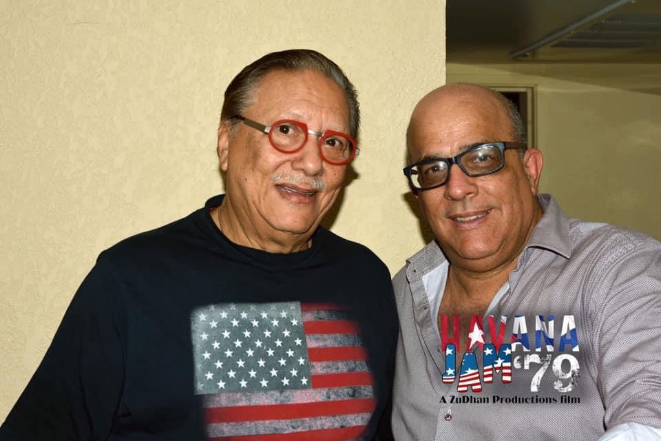 Ernesto Juan Castellanos with Arturo Sandoval. Photo: Courtesy of the interviewee.