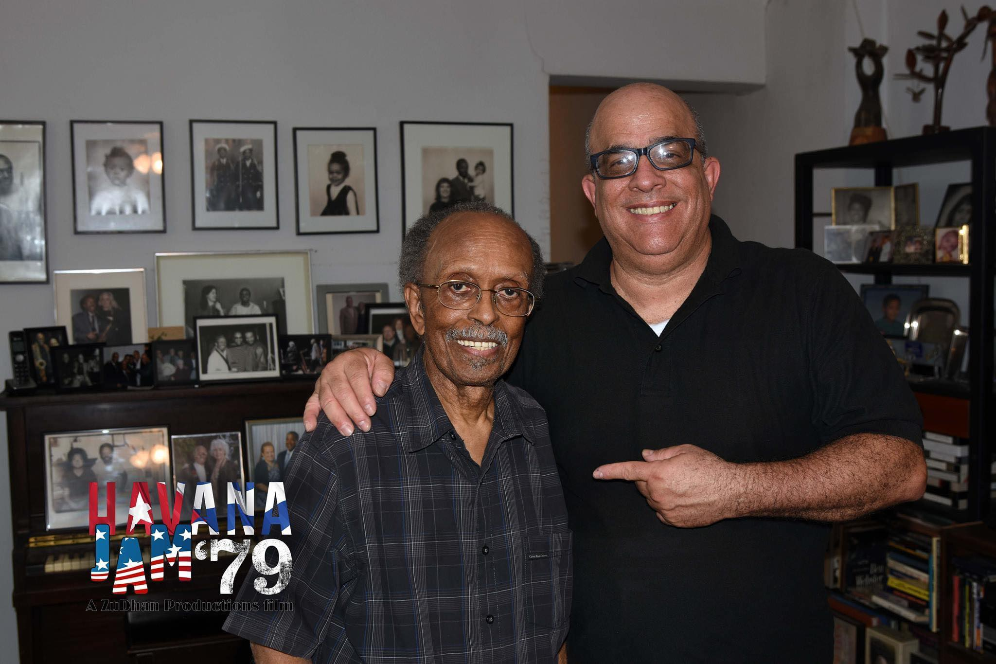 Ernesto Juan Castellanos with Jimmy Heath, director and host of the CBS Jazz All Stars.