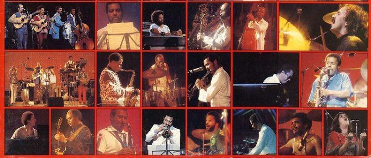 Músicos que participaron en el festival Havana Jam, en 1979.