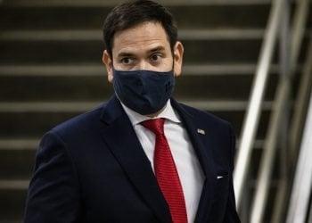 El senador Marco Rubio en el edificio del Senado en Washington este martes, 17 de noviembre. | AFP