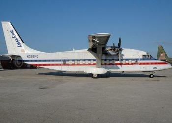 Aeronave Fokker de la aerolínea SkyWay. Foto: Skyway.