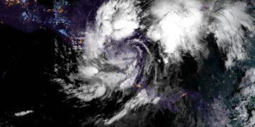 Imagen de satélite de la tormenta tropical Eta. Foto: nhc.noaa.gov/Facebook.