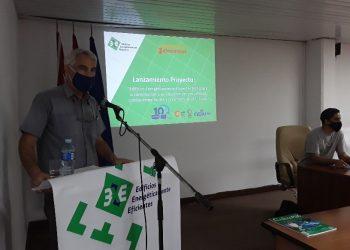 """Presentación del proyecto el proyecto 3XE """"Edificios Energéticamente Eficientes"""", de la Empresa de Automatización Integral, CEDAI, el 6 de noviembre de 2020 en La Habana. Foto: CEDAI / ACN."""