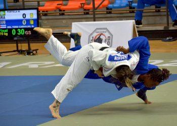 Combate de la final por equipos mixtos, del Campeonato Panamericano de Judo, celebrada el 22 de noviembre de 2020 en Guadalajara, México. Foto: @codejalisco / Twitter.