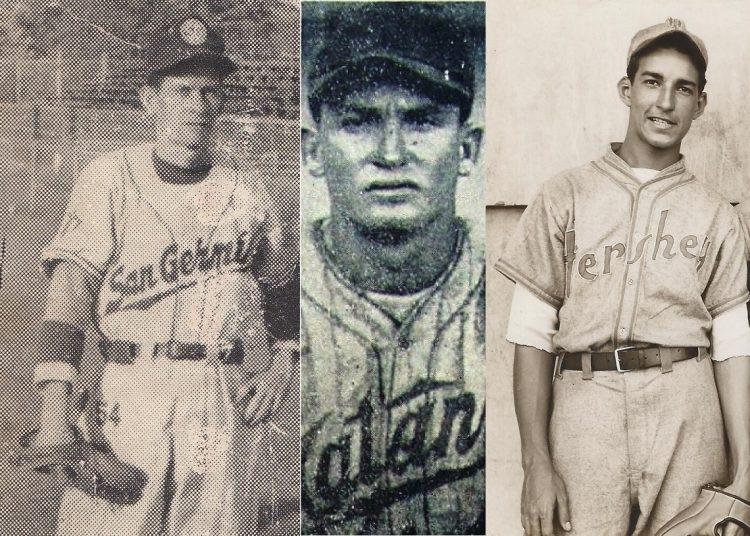 Rolando Muñiz, Jiquí Suárez y Joe Carballo, tres de los lanzadores avileños que también lograron juegos sin hits ni carreras. Foto: Archivo del autor.
