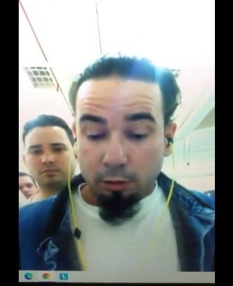 Ariel Pérez, detained in Stewart, tells of his situation in a video call with SIFI. Photo: screenshot