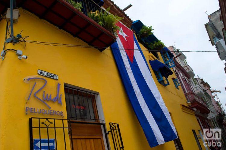 Calle Aguacate, en La Habana. Diciembre de 2020. Foto: Otmaro Rodríguez.