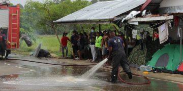 Campamento migrantes cubanos. Foto: Suriname Herald / Archivo.
