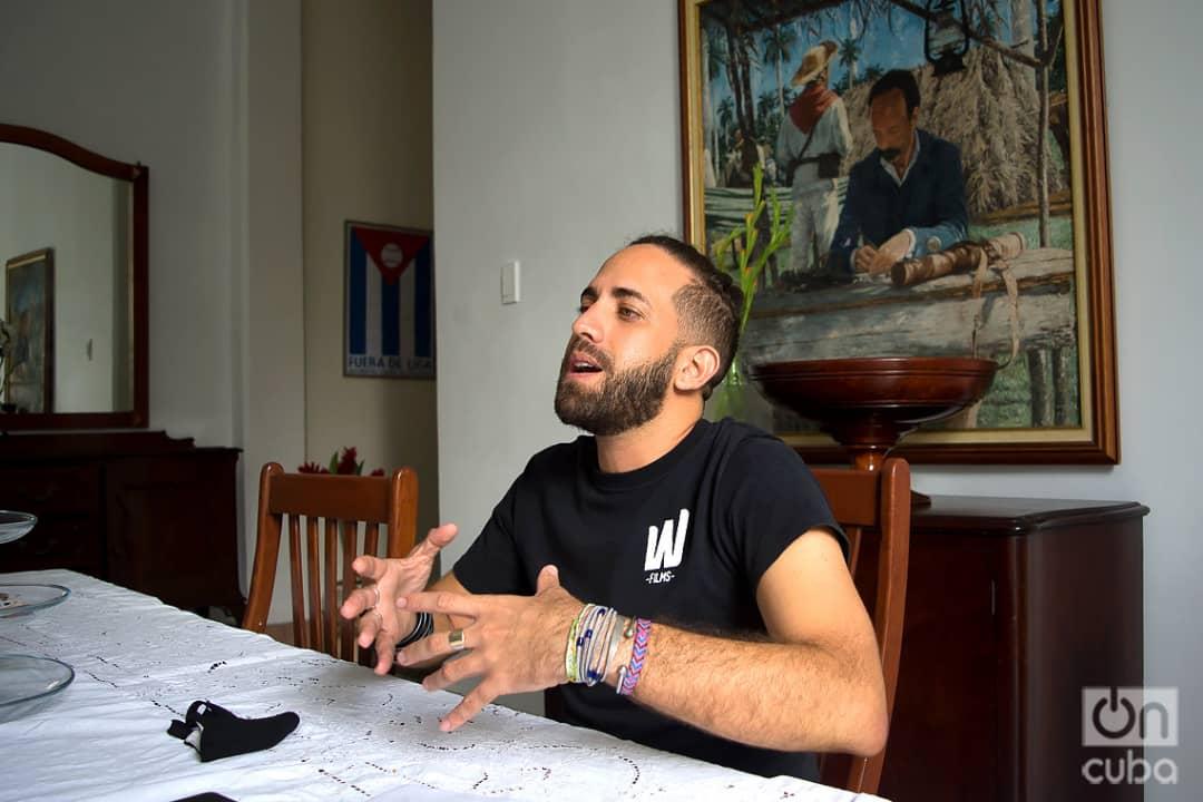 Manuel Alejandro Rodríguez, miembro del colectivo audiovisual WajirosFilms, uno de los coordinadores de la red Varentierra para jóvenes realizadores de todo el país. Foto: Otmaro Rodríguez.
