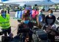 Yanet Stable, directora de Política Migratoria y Atención a Cubanos Residentes en la cancillería cubana, ofrece declaraciones a la prensa tras la llegada al Aeropuerto Internacional José Martí, de La Habana, de una donación de materiales sanitarios enviada por cubanos residentes en EE.UU., el 10 de diciembre de 2020. Foto: Otmaro Rodríguez.