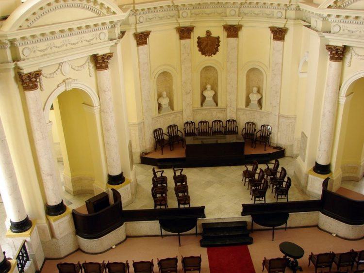 Paraninfo de la Academia de Ciencias de Cuba. Foto: academiaciencias.cu