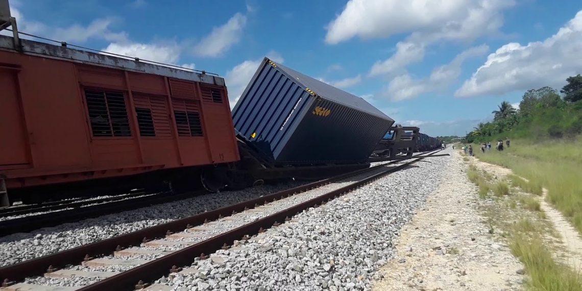 Descarrilamiento de un tren en mayo de 2019 que el gobierno cubano asegura fue resultado de un sabotaje organizado y financiado desde EE.UU. Foto: Cubadebate / Archivo.