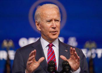 Biden habla sobre el empleo el viernes 4 de diciembre de 2020 en el teatro The Queen, en Wilmington, Delaware.  Foto: Andrew Harnik/AP.