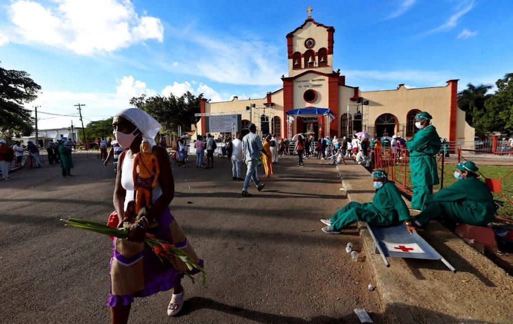 Santuario Nacional de San Lázaro en El Rincón. Foto: Ernesto Mastracusa / EFE.