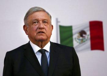El presidente mexicano Andrés Manuel López Obrador asiste al festejo por el segundo aniversario de su triunfo electoral en el Palacio Nacional de la Ciudad de México. Foto: Marco Ugarte/AP.