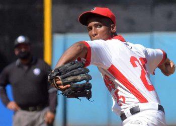 El lanzador santiaguero Carlos Font. Foto: ACN.