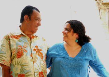 Manuel Galbán y su hija Magda Rosa Galbán. Foto: Carlos Miranda.