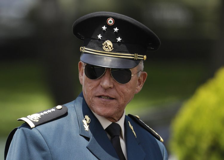 El exsecretario de Defensa Salvador Cienfuegos. Foto: Rebecca Blackwell/AP.