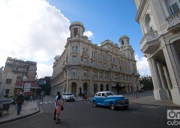 Edificio de arte universal del Museo Nacional de Bellas Artes, en el entorno de la calle Monserrate, en La Habana. Foto: Otmaro Rodríguez.