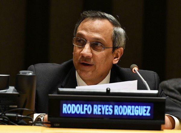 El diplomático cubano Rodolfo Reyes Rodríguez, fallecido mientras se desempeñaba como Director General de Asuntos Multilaterales y Derecho Internacional de la cancillería de la Isla. Foto: ACN / Archivo.