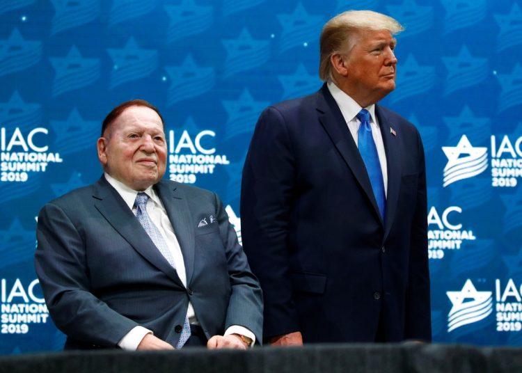 Sheldon Adelson y Donald Trump. Foto: Politico.