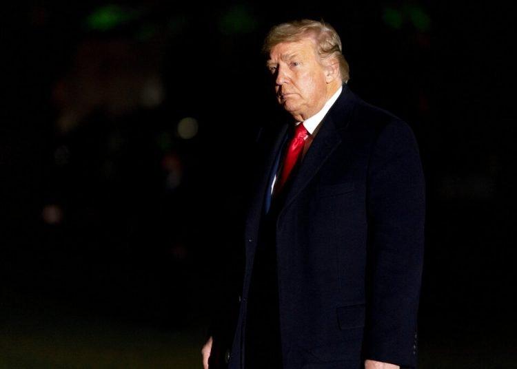 El presidente Donald Trump llega el 5 de enero de 2021 a la Casa Blanca. Foto: Andrew Harnik/AP.